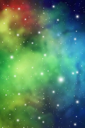 Astrology Mystic Galaxy Background. Outer Space. Vector Digital Colorful Illustration of Universe. Иллюстрация