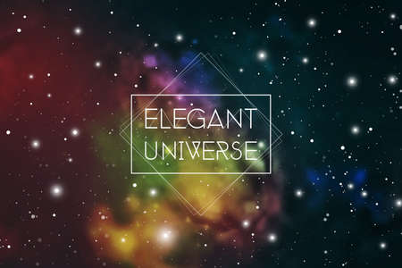 Elegant universe scientific outer space wallpaper. Astrology Mystic Galaxy Background. Ilustração