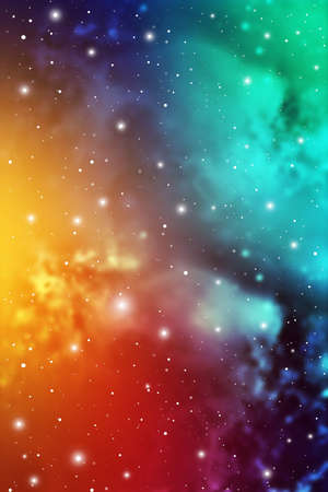 Astrology Mystic Galaxy Background. Outer Space. Vector Digital Illustration of Universe. Ilustração