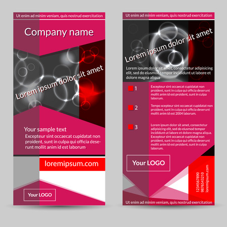 subtitle: Abstract vector template design. Set of  geometric  flyers with circles, with place for your text.