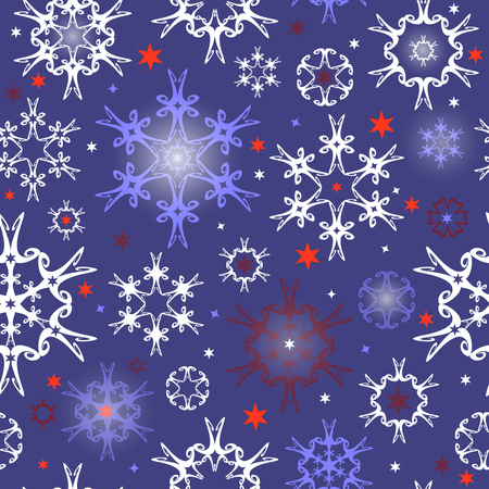 blue snowflakes: Seamless background for winter and christmas theme with snowflakes