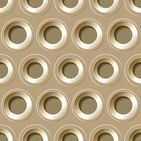 brassy: Vector  seamless pattern with  metal holes on a light background.