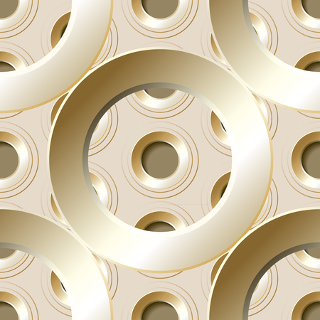 metalline: Vector  seamless pattern with  metal holes on a light background.
