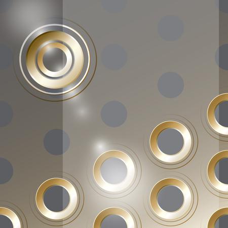 metalline: Vector  cover design with  metal golden holes on transperent  background.