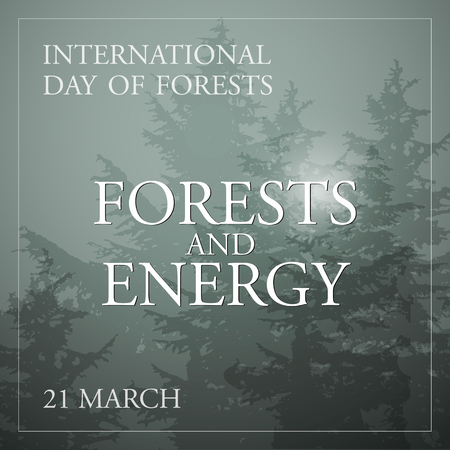 International day of forests concept. Vector Illustration.