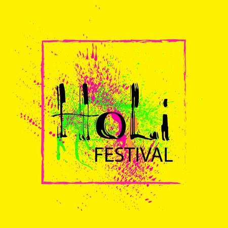 Holi festival card.