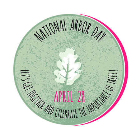 Arbor Day icon. Vector illustration for  promotion. Illustration