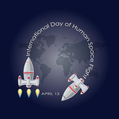 International day of human space flight. Illustration