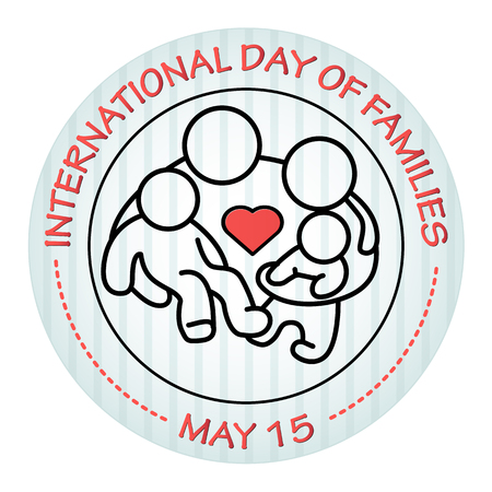 International Day of Families. May 15. Family icon. Illustration