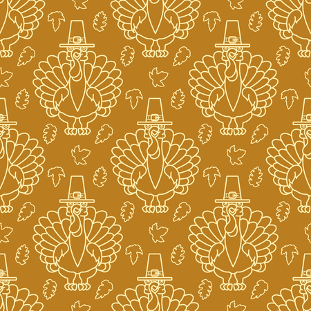 Thanksgiving Holiday pattern. Vector Illustration