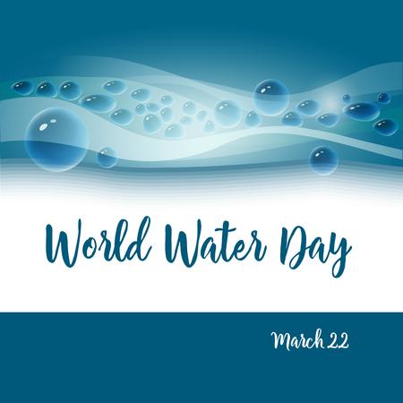 World Water day concept.Vector illustration. Illustration