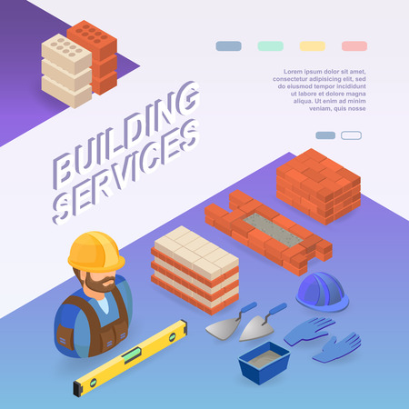 Building services Isometric concept.