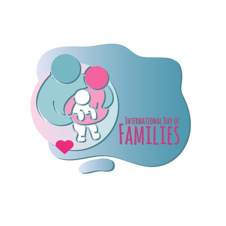 Family icon. International Day of Families.  Vector illustration