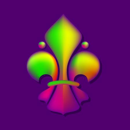 Fleur De Lis royal lily. Vector illustration.