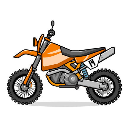 motobike: Motobike enduro, orange sport bike with black.
