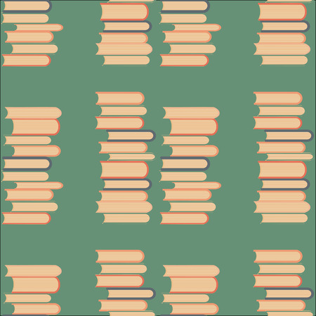 magazine stack: books seamless pattern. Vector illustration