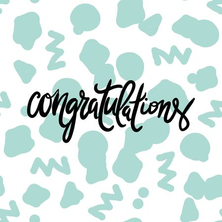 upmarket: congratulation card. Vector hand drawn phrase. Hand lettering poster. Can be used for graduation, greeting, ceremony, achievement.