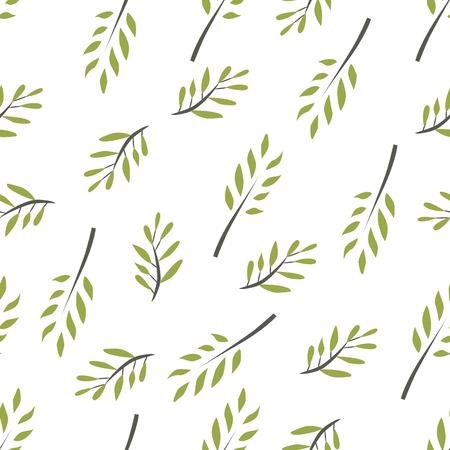 オリーブ ブランチのシームレスなパターン。ベクトル図