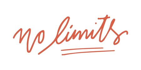 No fear. No limits. Hand lettering and custom typography for your designs: t-shirts, bags, for posters,