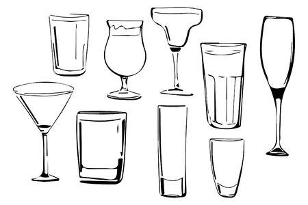 colada: Coctail hand drawn illustration for your design: menu, cards Illustration