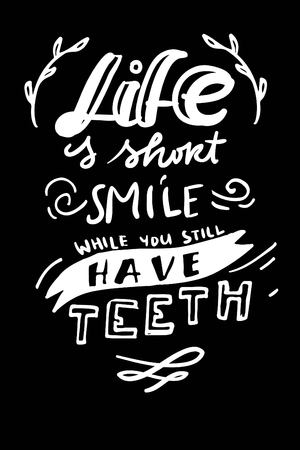 Typography lettering design on a tooth shape grunge texture and sunburst for print, t-shirt.