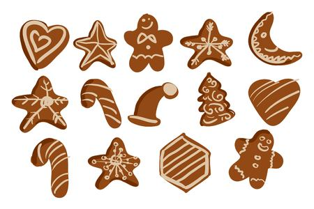 Gingerbread cookies  hand drawn background for your design