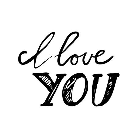 I love you. Hand lettering and custom typography for your designs: t-shirts, bags, for posters and more.