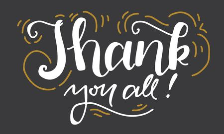 Thank you. Hand lettering for your design