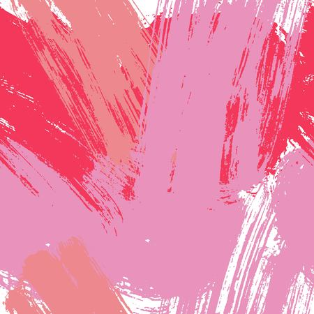 Hand drawn rose vector pink background