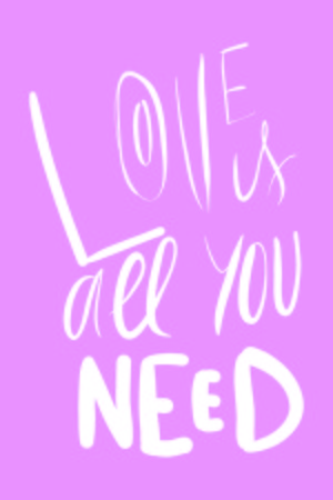 Love is all you need. Hand lettering about love illustration for your design. Illustration