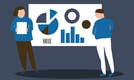 People on presentation. Business illustration for your design