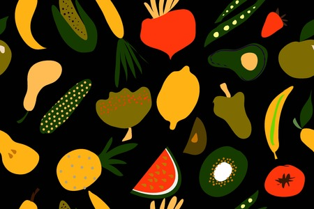 Fruit and vegetables ilustration for your logo, site, background
