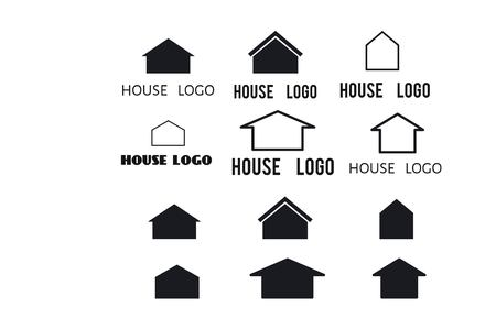 House icons set for your design: logo, poster , illustration