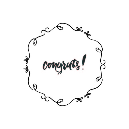 Vintage congratulation card for your design: cards, invitations