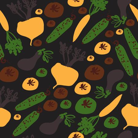 Veggies seamless pattern for your design: cafe, menu, wallpaper 矢量图像