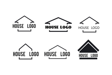 House icons set for your design: logo, poster , illustration