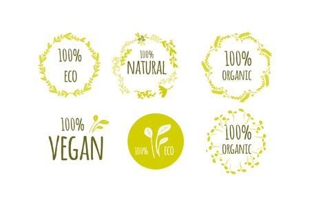 Eco labels set for your design: package, posters, banners