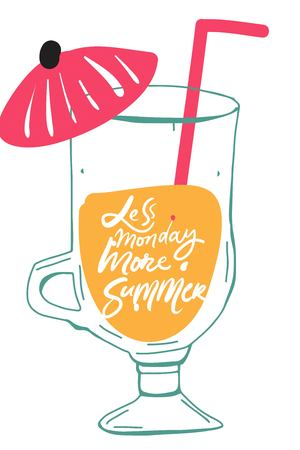 Summer hand lettering quote for your design: cards, posters 矢量图像