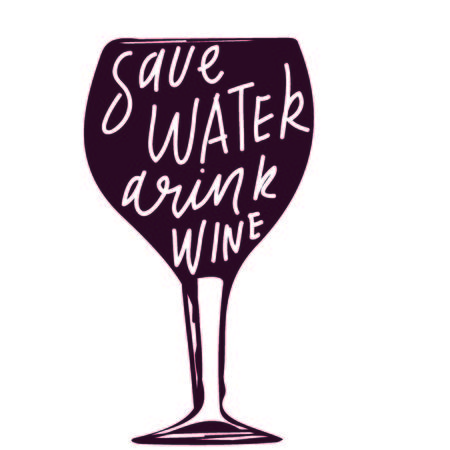 Save water, drink wine.  hand lettering sign for your desi: menu, posterss, cards 矢量图像