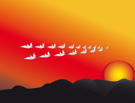 petiole: sunset in the mountains;autumn;of the setting sun letters   SMS   mails fly away