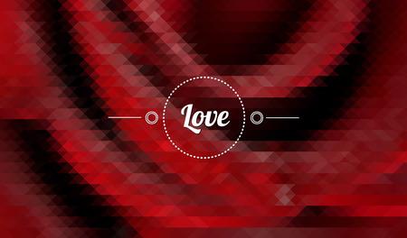 страсть: Ретро абстрактный красная роза символ любви и страсти Иллюстрация
