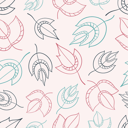 Seamless pattern with leaf. Vector illustration. Perfect for invitations, greeting cards, posters, prints, banners, flyers etc