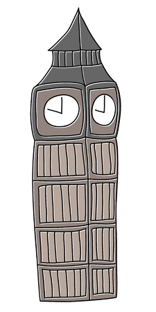 Big Ben London vector drawing by hand sights England Great Britain Westminster