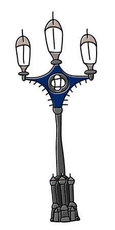 London lamp vector drawing by hand sights England Great Britain Westminster