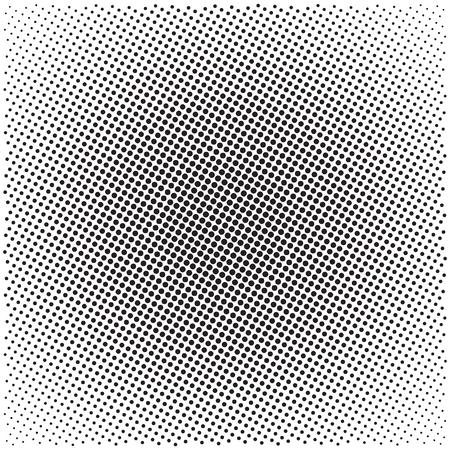 Halbtonmusterhintergrund, Universalvektormuster, Halbtonpunkte auf weißem Hintergrund, Siebdruckbeschaffenheit, einfarbige geometrische Beschaffenheit mit wiederholten Punkten von verschiedenen Größen
