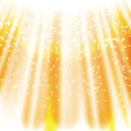 Magic sun raise, sun beams with gold abstract glitter, blinking sparkle, Christmas and New Year glittering background, backdrop with sparkling magic glowing, blinking  lights