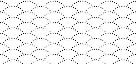 Japanese wave seamless pattern, seamless dots print, seamless background texture Illustration