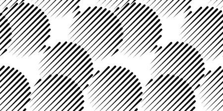 Seamless circles, seamless geometric, geo, pattern, black and white screen print texture Illustration
