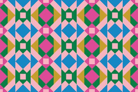 Geo seamless pattern, ethnic ornament, folk motif, seamless fabric print, festive geometric patchwork, tapestry background