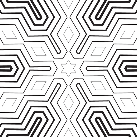 Seamless geo, geometric pattern, seamless halftone pattern, stars, diamonds, stripes, abstract military style background, black and white seamless print